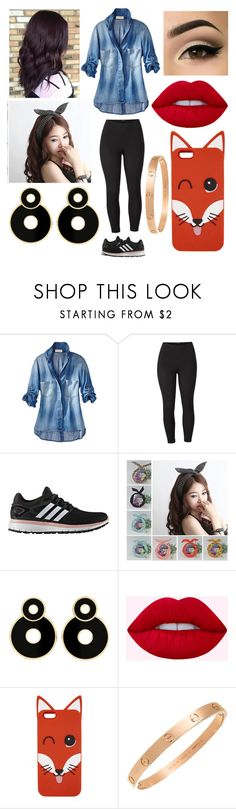 """""""MT ~ E17"""" by thirtysecondsatthepityparty ❤ liked on Polyvore featuring Venus, adidas, Maison Kitsuné, Cartier and plus size clothing"""