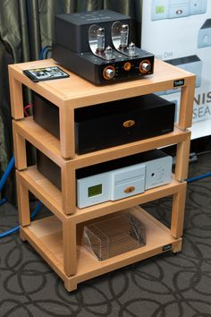 Hifi rack ikea  Another great looking HIFI rack built from IKEA Lack side tables. So ...