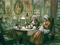 The World's Best Photos of anton and pieck 3d Prints, Canvas Art Prints, Framed Canvas, Framed Prints, Anton Pieck, Image 3d, Dutch Painters, Dutch Artists, Fantasy Illustration