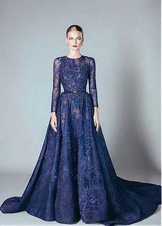 Buy discount Unique Lace Jewel Neckline A-line Evening Dresses With Lace Appliques at Dressilyme.com