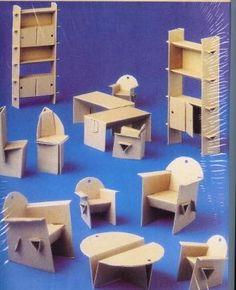 """Résultat de recherche d'images pour """"meuble miniature en carton gratuit"""""""