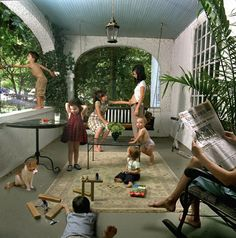 Domestic Vacation by Julie Blackmon Narrative Photography, Color Photography, Portrait Photography, Digital Photography, Children Photography, Family Photography, Inspiring Photography, Laura Makabresku, Visual Metaphor