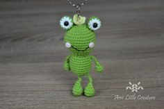 Hi, it's time for the tutorial little frog keychain . I made the frog some time ago ( LINK ).You can watch the video tutorial on my YouT. Crochet Frog, Crochet Yarn, Easy Crochet, Crochet Toys, Crochet Decrease, Double Crochet, Single Crochet, Advent, Make Tutorial