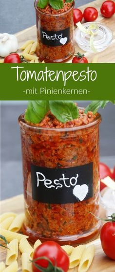 Rezept für Tomaten Pesto mit getrockneten Tomaten, Ricotta, Parmesan und Pinienkernen. Schnell gemacht und super lecker zu frischen Nudeln oder auch als Brotaufstrich