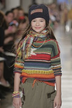 Navajo -inspired seweater from @Ralph Lauren  2014 Children's Runway Show| MomTrends