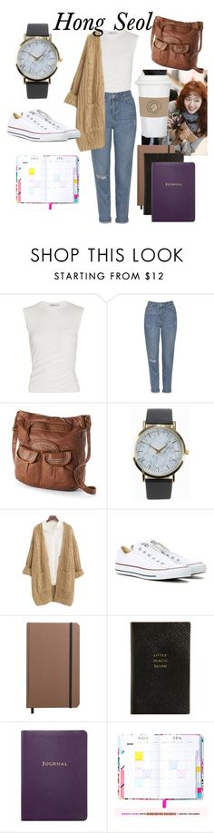 """""""Hong Seol -> Cheese in the Trap"""" by whinybanana ❤ liked on Polyvore featuring Alexander Wang, Topshop, Mudd, NLY Accessories, Chicnova Fashion, Converse, Shinola and Smythson"""