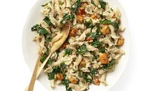 Hearty but elegant campanelle pasta highlights the butternut squash in this delicoius dish perfect for a winter night.
