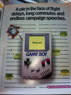 Nintendo Game Boy print ad circa 1992, targeted toward adults.
