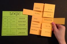 Create a foldable or just pass out the Logic cheat sheet, the choice is yours! Such an easy way to display important information to your students!