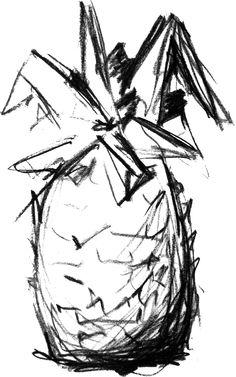 Pineapple Drawing - Rustfoot: Slow exchange (spell)