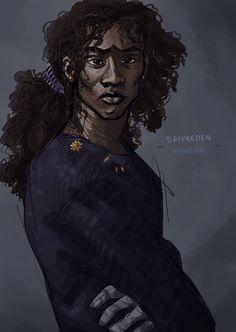 Seivarden Vendaai, from Ancillary Justice, by Tinu