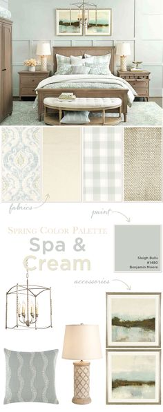 Spa and cream bedroom color palette