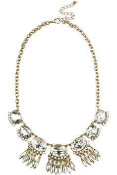 Crystal Dream Catcher Bib #necklace #bib #statementnecklace #jewelry #abbypointe #dreamcatcher #statement