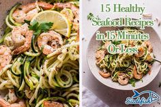 Whether you are craving shrimp, scallops, salmon or sablefish, you can prep, cook and enjoy these 15 Healthy Seafood Recipes In 15 Minutes Or Less! Veggie Recipes, Fish Recipes, Seafood Recipes, Beef Recipes, Salmon Dishes, Fish Dishes, Seafood Dishes, Main Dishes, Prepackaged Meal