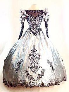 Gothic Halloween Steampunk Victorian Ball Gown Wedding Dress Vampire Masquerade