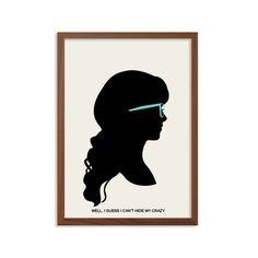 NOUVELLE FILLE   Ne peut pas cacher mon affiche fou : Jess jour Illustration moderne TV Show / série rétro Art Wall Decor