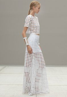 ALEXIS Lisette crop top and Ajak skirt