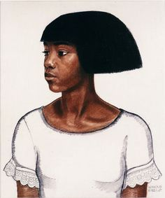 Harlem Girl, portrait by Winold Reiss. Winold Reiss was a German immigrant who came to fame for his illustrations and cover designs during the Harlem Renaissance. He taught and mentored artist Aaron Douglas, and his work appeared on Harlem Renaissance-era book and magazine covers. His illustrations for the book The New Negro, edited by Alain Locke in 1925, were very influential. More information on Winold Reiss here: http://www.winoldreiss.org/index.htm