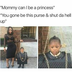 I remember my first time being a purse for Halloween...