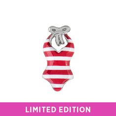 You'll never forget those days spent lounging on the beach in your swimsuit. Capture the moment in your Origami Owl Living Locket with the Red Striped Swimsuit Charm and add the summer Charms that celebrate your story.