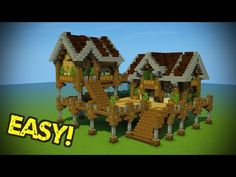 "Minecraft: Starter Base Tutorial - Wooden Minecraft House - YouTube... I don't call something this big ""starter"" but it would be a cool build."
