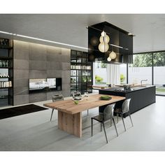 With stove on the kitchen island, this modern kitchen looks more spacious, right? #rumahkukitchen