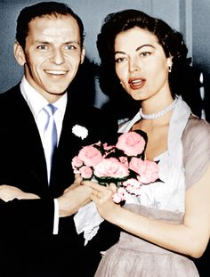 Frank Sinatra and Ava Gardner marry...1951 - they will have a tumultuous marriage and divorce in 1957.