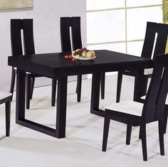 Dining Room:Simple Black Dining Room Furniture Sets With Fruits Centerpiece Ideas Sophisticated Black Dining Rooms Theme and Wall Decorating Ideas