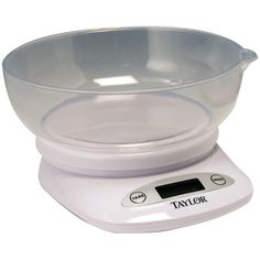 TAYLOR 380444 4.4lb Capacity Digital Kitchen Scale With Bowl Https://www