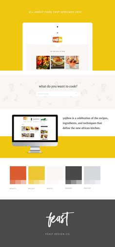 YajiBox Case Study: Yellow, amber and gray color scheme.