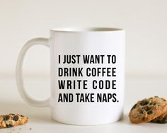 Nerdy mugs: How developers would love to spend their days and nights
