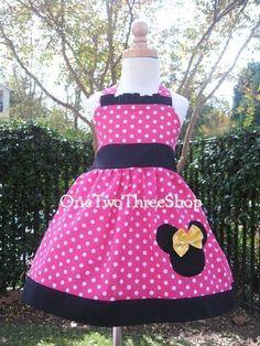 Customizadas Boutique Minnie Mouse Halter vestido 12 por amacim