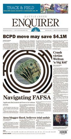 The Battle Creek Enquirer 4/20/16 via Newseum