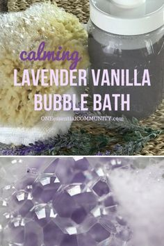 DIY lavender vanilla bubble bath recipe - vanilla oleoresin and lavender essential oil combine to make a warm floral scent that helps you relax, unwind, and let go. After soaking in a tub of this… Essential Oil Uses, Young Living Essential Oils, Vanilla Essential Oil, Laura Lee, Oils For Relaxation, Bubble Bath Homemade, How To Make Bubbles, Bath Recipes, Soap Recipes