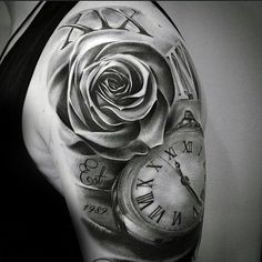 Image result for mens rose sleeve tattoo ideas
