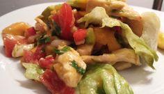 Salade de mangues menthe et poulet façon thaï
