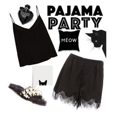 """Pajama Party"" by antoniarauss on Polyvore featuring Miu Miu, Raey and Lipsy"