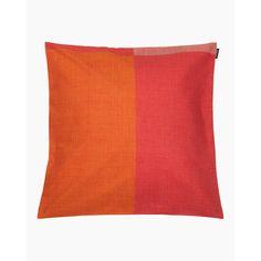 Verkko  cushion cover 45x45cm - red, yellow - All items - Home  - Marimekko.com Marimekko, My Size, Cushion Covers, Different Styles, Cushions, Yellow, Fabric, Cotton, Red