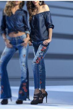 6f448c06dc As jeggings são calças de denim mais fino, mais justas que uma skinny e tão