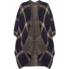 Dorothy Perkins Navy Check Blanket Wrap ($40) ❤ liked on Polyvore featuring tops, blue, navy bedding, acrylic blanket, dark blue bedding, navy blue blanket and blue bedding