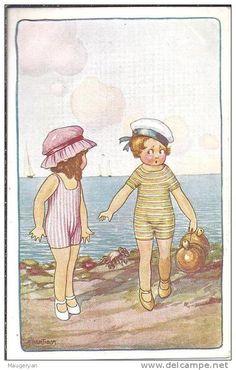 BERTIGLIA - Enfants en maillot de bain