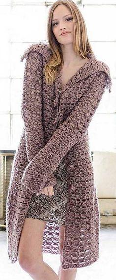 ideas crochet jacket coat free knitting for 2019 Gilet Crochet, Crochet Jacket, Crochet Cardigan, Crochet Shawl, Knit Crochet, Knit Rug, Knit Pillow, Crochet Doilies, Crochet Stitches