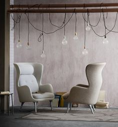 "The chair ""Ro"" Hayon designed for the Danish manufacturer Fritz Hansen."