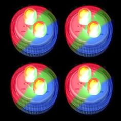 Submersible Double LED - Color Changing RGB (Set of 4)
