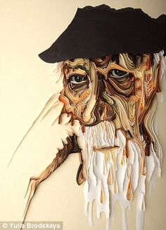 Haunting: This wonderful portrait of an elderly man includes exquisite detailing