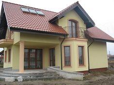 Projekt domu Gracjan 131,33 m2 - koszt budowy 249 tys. zł - EXTRADOM Architectural House Plans, Home Fashion, My Dream Home, Villa, Exterior, Small Houses, How To Plan, Mansions, Nice