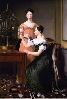 Bella and Hanna, the Eldest Daughters of M L Nathanson by C W Eckersberg, 1820 Denmark (Copenhagen), Statens Museum for Kunst