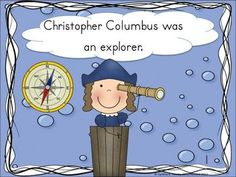 FREE Christopher Columbus story for little kids. Includes a half sized booklet for students to color and a fun activity sheet for doing explorer fun! Video story telling Kindergarten Social Studies, Social Studies Activities, Teaching Social Studies, Classroom Fun, Kindergarten Classroom, Classroom Activities, Classroom Freebies, Holiday Activities, Fun Activities