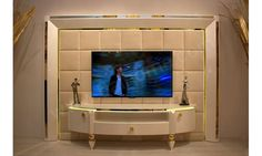 Gold Duvar Tv Ünitesi Balhome Mobilya