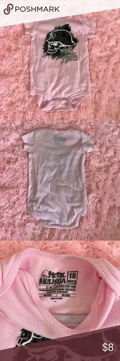 Metal Mulisha Onesie - 18m Pink Metal Mulisha onesie. Never worn but washed. Metal Mulisha One Pieces